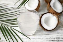 Стекло воды кокоса Стоковые Фото