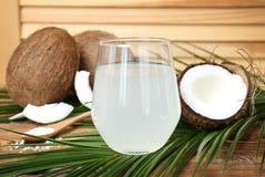 Стекло воды кокоса Стоковые Фотографии RF
