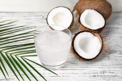 Стекло воды кокоса Стоковые Изображения RF