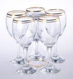 стекло, стекло воды на предпосылке Стоковая Фотография