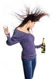 стекло девушки шампанского Стоковое фото RF