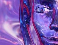 стекло девушки Стоковые Фотографии RF