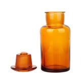 стекло для химической посуды бутылки коричневое Стоковая Фотография RF