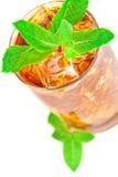 стекло заморозило чай мяты Стоковое Фото