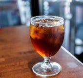 стекло заморозило чай Стоковая Фотография