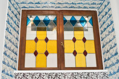 стекло запятнало окно стоковая фотография rf
