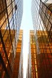 стекло здания золотистое Стоковое фото RF