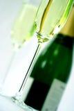 стекло каннелюры шампанского Стоковое фото RF