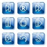стекло кнопки 29 син иллюстрация штока