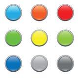 стекло кнопки Стоковые Изображения RF