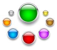 стекло кнопки иллюстрация вектора