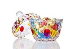 стекло конфеты 2 коробок Стоковое Изображение