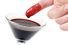Стекло крови Стоковая Фотография