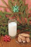 Стекло молока для Санта Стоковая Фотография RF