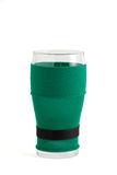 стекло пива предпосылки изолировало белизну st patrick Стоковое Изображение RF