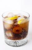 стекло питья колы Стоковое Изображение