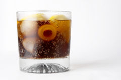 стекло питья колы Стоковые Изображения RF