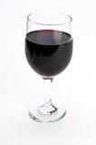 стекло предпосылки изолируя красное одиночное вино Стоковые Изображения RF