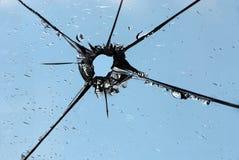 стекло пролома стоковая фотография rf