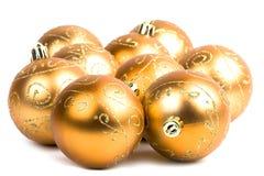 стекло рождества шариков золотистое Стоковое Изображение RF