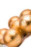 стекло рождества шариков золотистое Стоковое Изображение