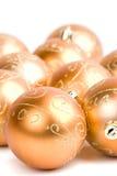 стекло рождества шариков золотистое Стоковое фото RF