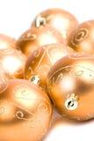 стекло рождества шариков золотистое Стоковая Фотография