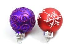 стекло рождества шариков цветастое Стоковое фото RF