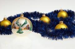стекло рождества шариков Стоковое Фото