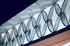 Стекло сделало внутреннее художественное оформление из современным фотоснимка изолированного зданием стоковые фото