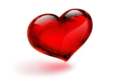 Стекло сердца Стоковые Фото