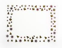 стекло состава рождества bauble голубое Рамка для представлять работу или текст Стоковые Фотографии RF