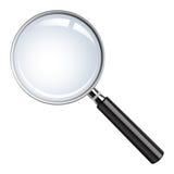 стекло увеличивая реалистический вектор Стоковые Изображения RF