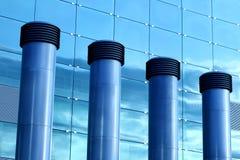 стекло фронта fasade конусов кондиционирования воздуха Стоковая Фотография RF