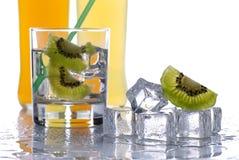 Стекло холодного питья плодоовощ стоковое фото rf