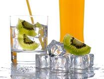 Стекло холодного питья плодоовощ стоковое изображение rf