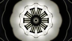 стекло цветка светя стоковая фотография rf