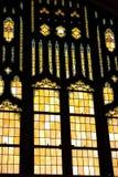стекло церков внутри большого запятнанного окна Стоковая Фотография RF