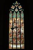 стекло церков запятнало окно Стоковые Изображения RF