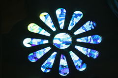 стекло церков запятнало окно Стоковое Фото
