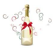 стекло шампанского бутылки Стоковое Фото