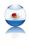 стекло шарика внутри xmas Стоковое Изображение