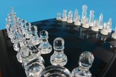 стекло шахмат доски стоковые фотографии rf