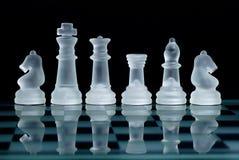 стекло шахмат стоковое изображение