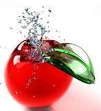 стекло яблока иллюстрация вектора