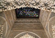 стекло детали alhambra запятнало Стоковые Фото