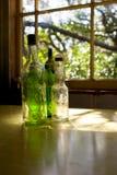стекло 02 бутылок старое Стоковые Фото