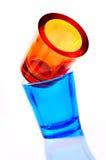 стекло 2 цвета Стоковая Фотография