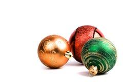 стекло 3 рождества шариков Стоковые Фотографии RF