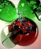 стекло 3 яблока Стоковое Фото